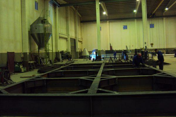 Premontaje de estructura en talleres